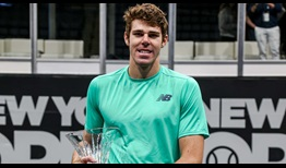 Reilly Opelka hammers 156 aces in his five matches at the New York Open for his first ATP Tour title.