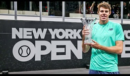 Reilly Opelka rifles 43 aces against Brayden Schnur to win his first ATP Tour title at the New York Open.