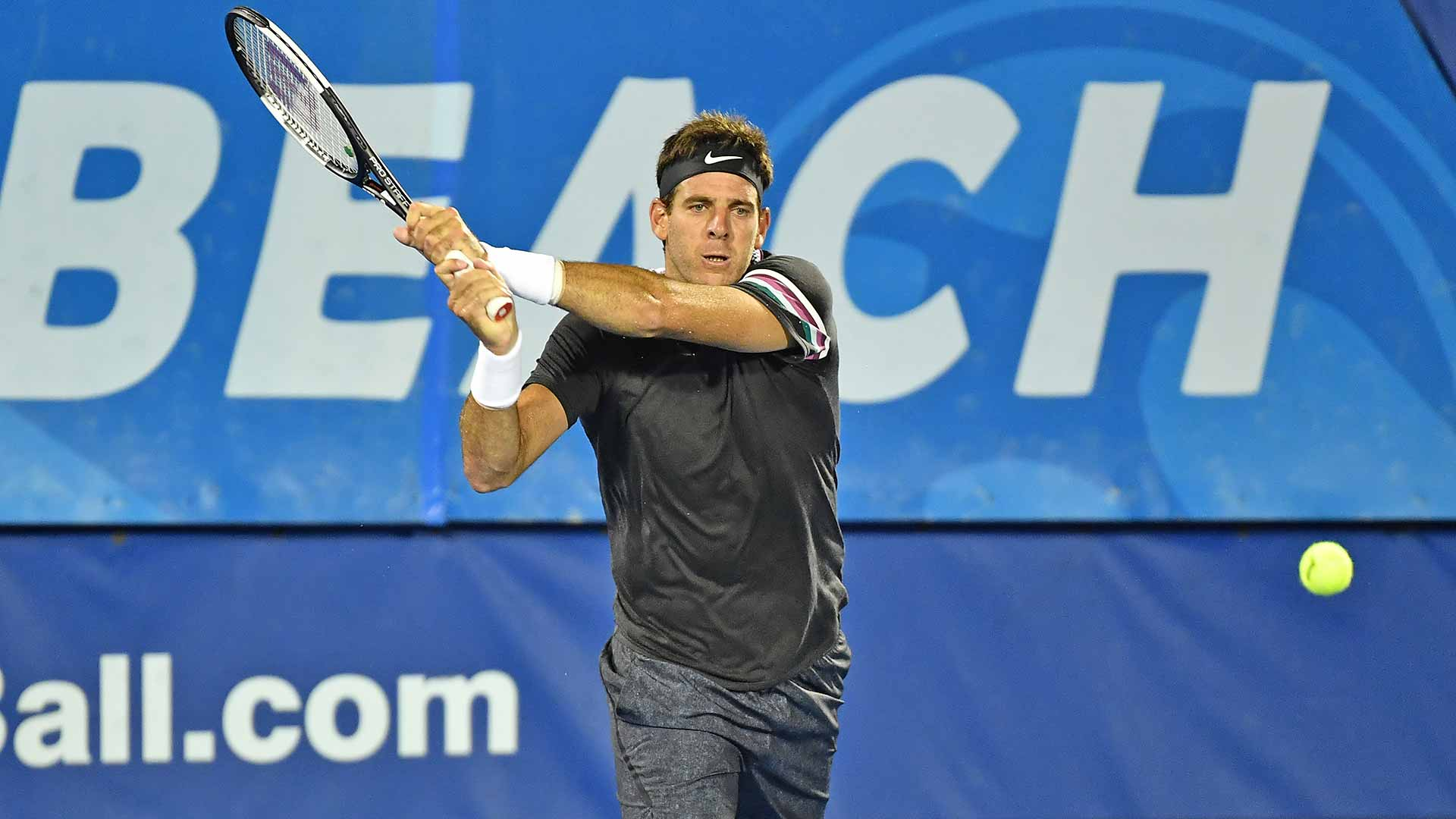 Del Potro beats Nishioka in Delray Beach