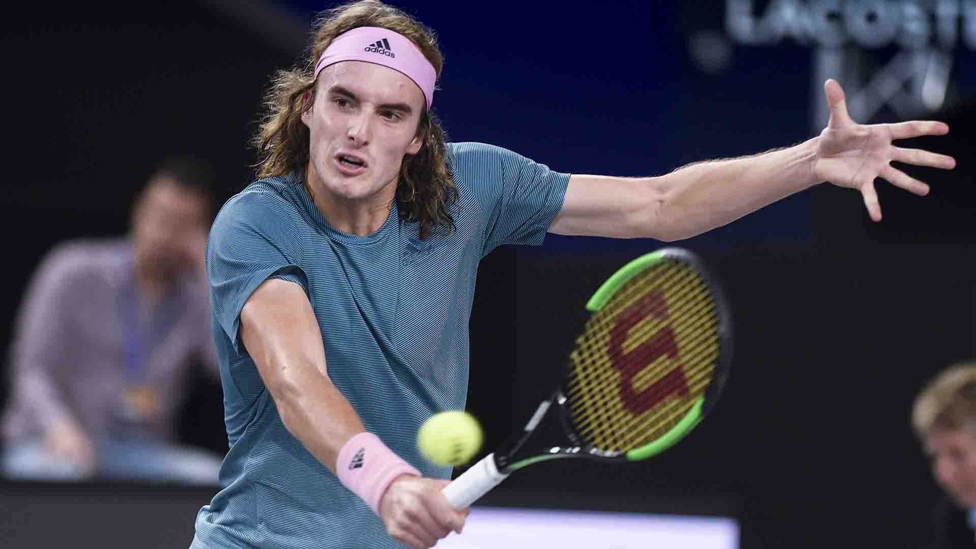 Stefanos Tsitsipas reaches the Open 13 Provence quarter-finals on Wednesday.