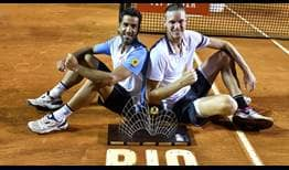 Maximo Gonzalez and Nicolas Jarry record their biggest moment on the doubles court at the Rio Open presented by Claro.