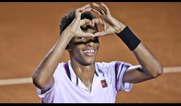 Felix Auger-Aliassime had reached just one ATP Tour quarter-final before his run to the championship match this week in Rio de Janeiro.