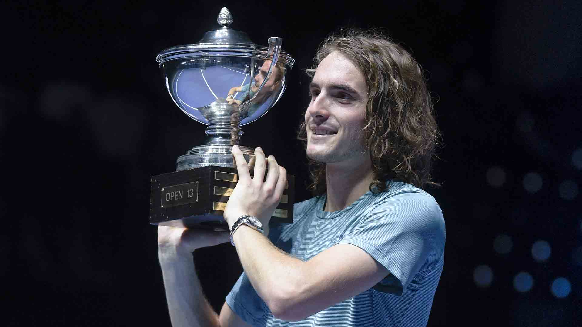 <a href='https://www.atptour.com/en/players/stefanos-tsitsipas/te51/overview'>Stefanos Tsitsipas</a> wins the <a href='https://www.atptour.com/en/tournaments/marseille/496/overview'>Open 13 Provence</a> title without dropping a set.