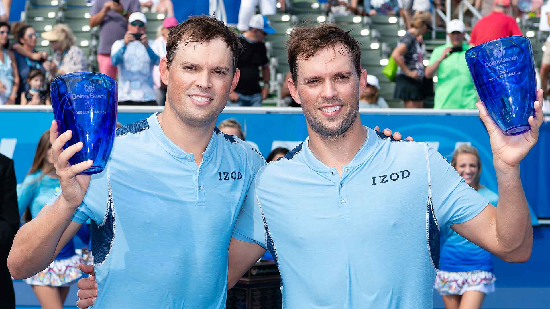 Bryans win 117th tour-level title in Delray Beach