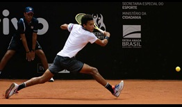 Felix Auger-Aliassime is enjoying his time on the Brazilian clay.