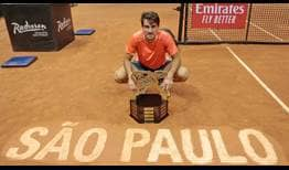 Guido Pella does not drop a set en route to winning his maiden ATP Tour title in Sao Paulo.