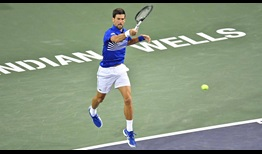 Djokovic-Indian-Wells-2019-Saturday-Jump-Forehand