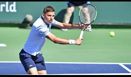 Filip Krajinovic defeats Daniil Medvedev on Tuesday in straight sets to reach the fourth round in Indian Wells.