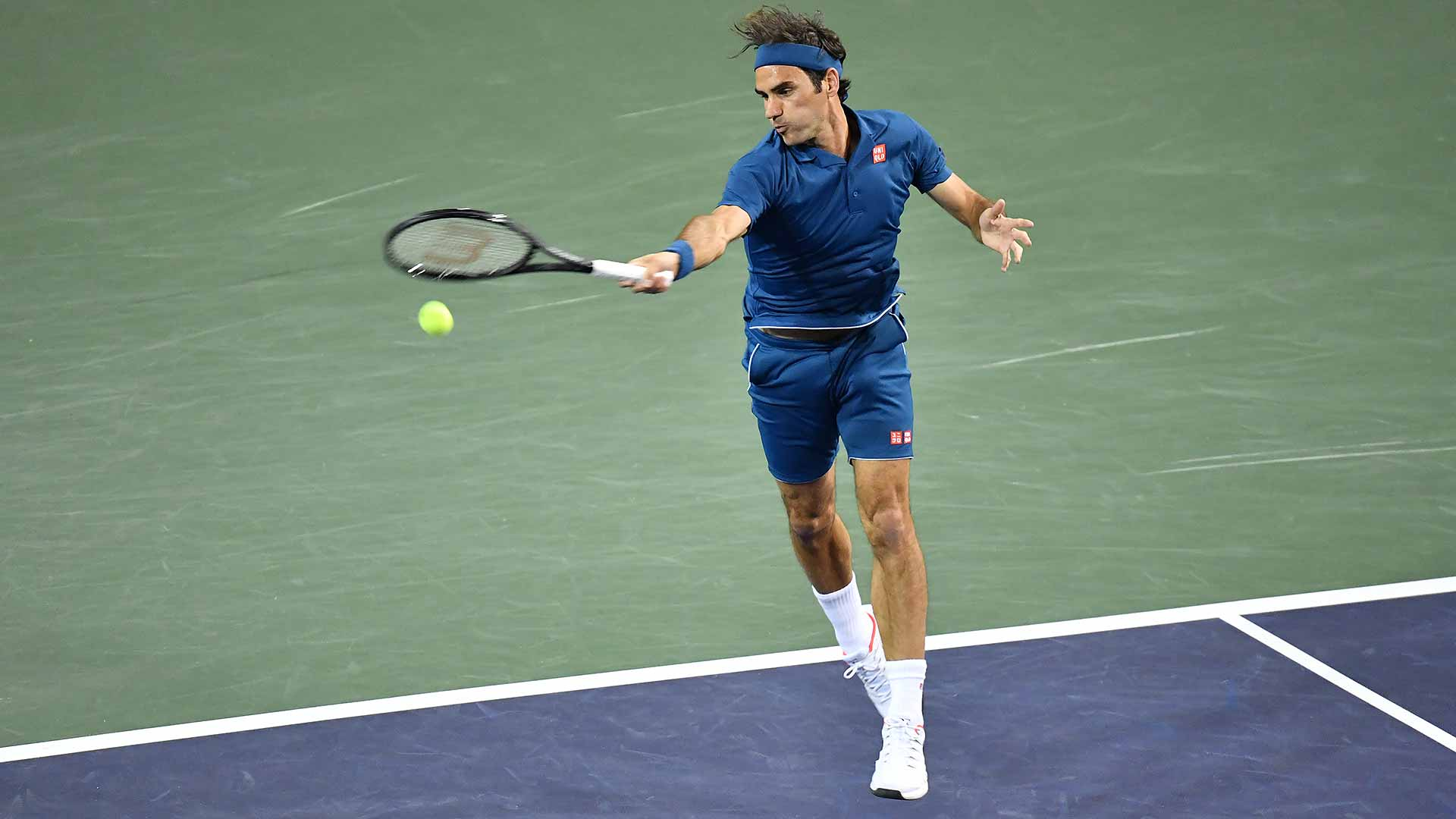 Roger Federer plays Stan Wawrinka at the BNP Paribas Open in Indian Wells