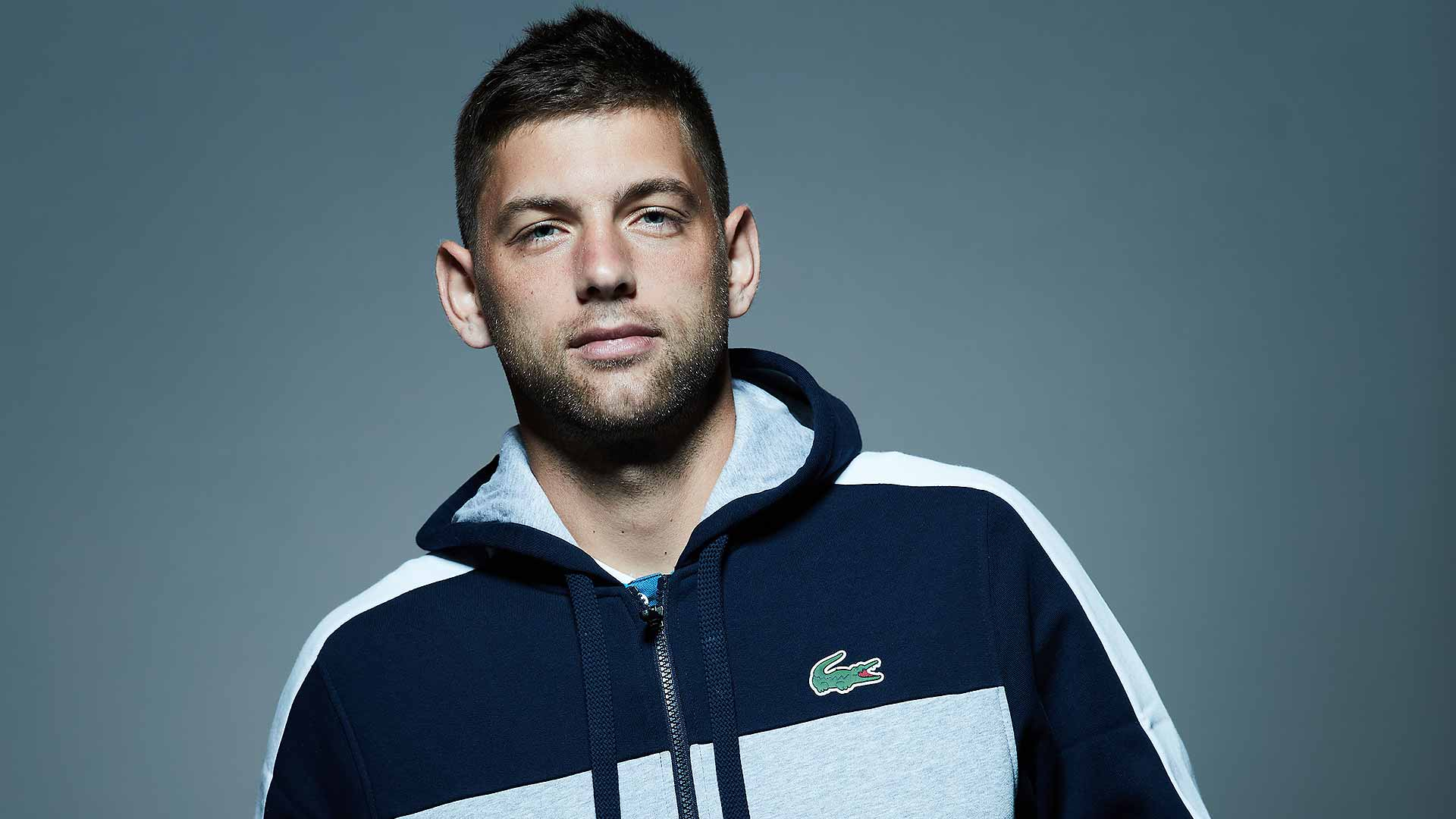 Filip Krajinovic plays Rafael Nadal at the BNP Paribas Open