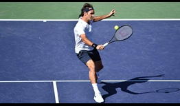 Federer-Indian-Wells-2019-Wednesday-BH-Volley-PS