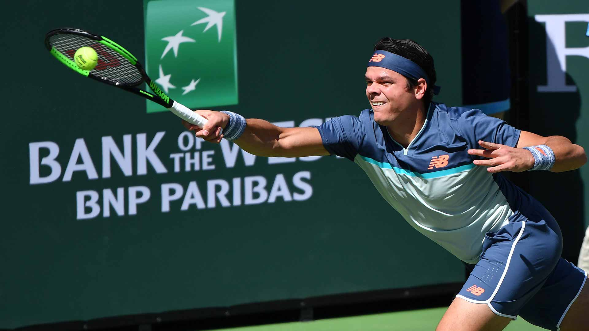 <a href='https://www.atptour.com/en/players/milos-raonic/r975/overview'>Milos Raonic</a> reaches the quarter-finals at the <a href='https://www.atptour.com/en/tournaments/indian-wells/404/overview'>BNP Paribas Open</a> in Indian Wells
