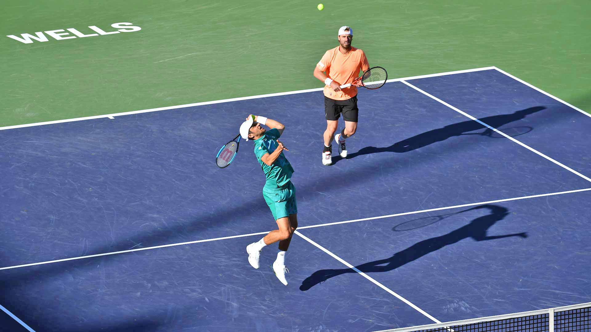 Mate Pavic and Oliver Marach compete in the quarter-finals of the BNP Paribas Open.