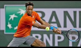 Gael Monfils breaks Philipp Kohlschreiber's serve five times on Wednesday in a straight-sets victory at Indian Wells.