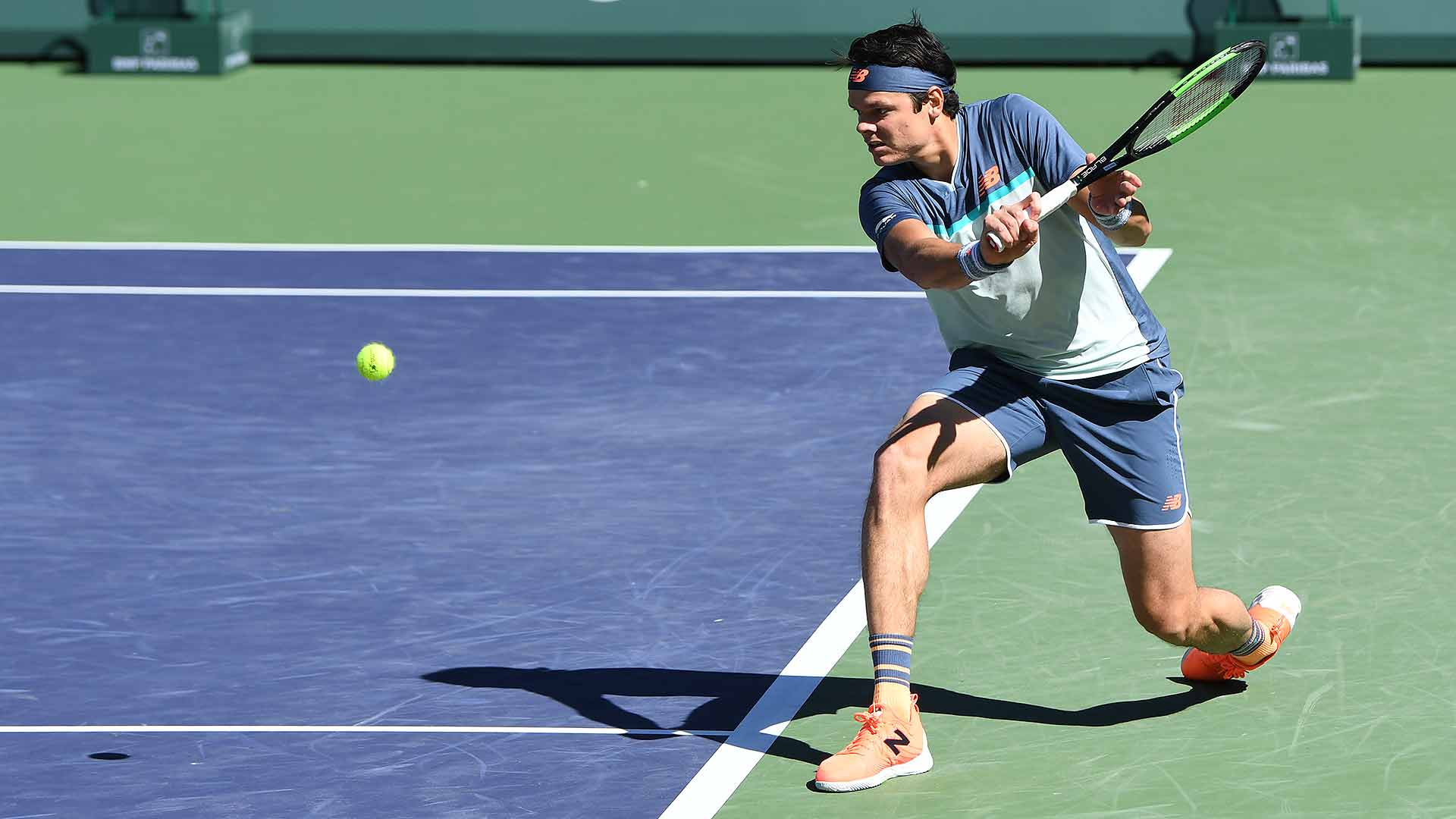 <a href='https://www.atptour.com/en/players/milos-raonic/r975/overview'>Milos Raonic</a> has been using his backhand slice well in Indian Wells