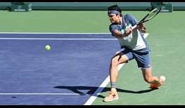 Milos Raonic's backhand slice has been a focus of his work with new coach Fabrice Santoro.