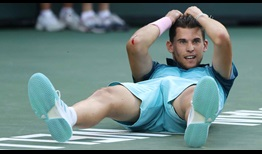 Dominic Thiem celebrates his maiden ATP Masters 1000 moment in Indian Wells.