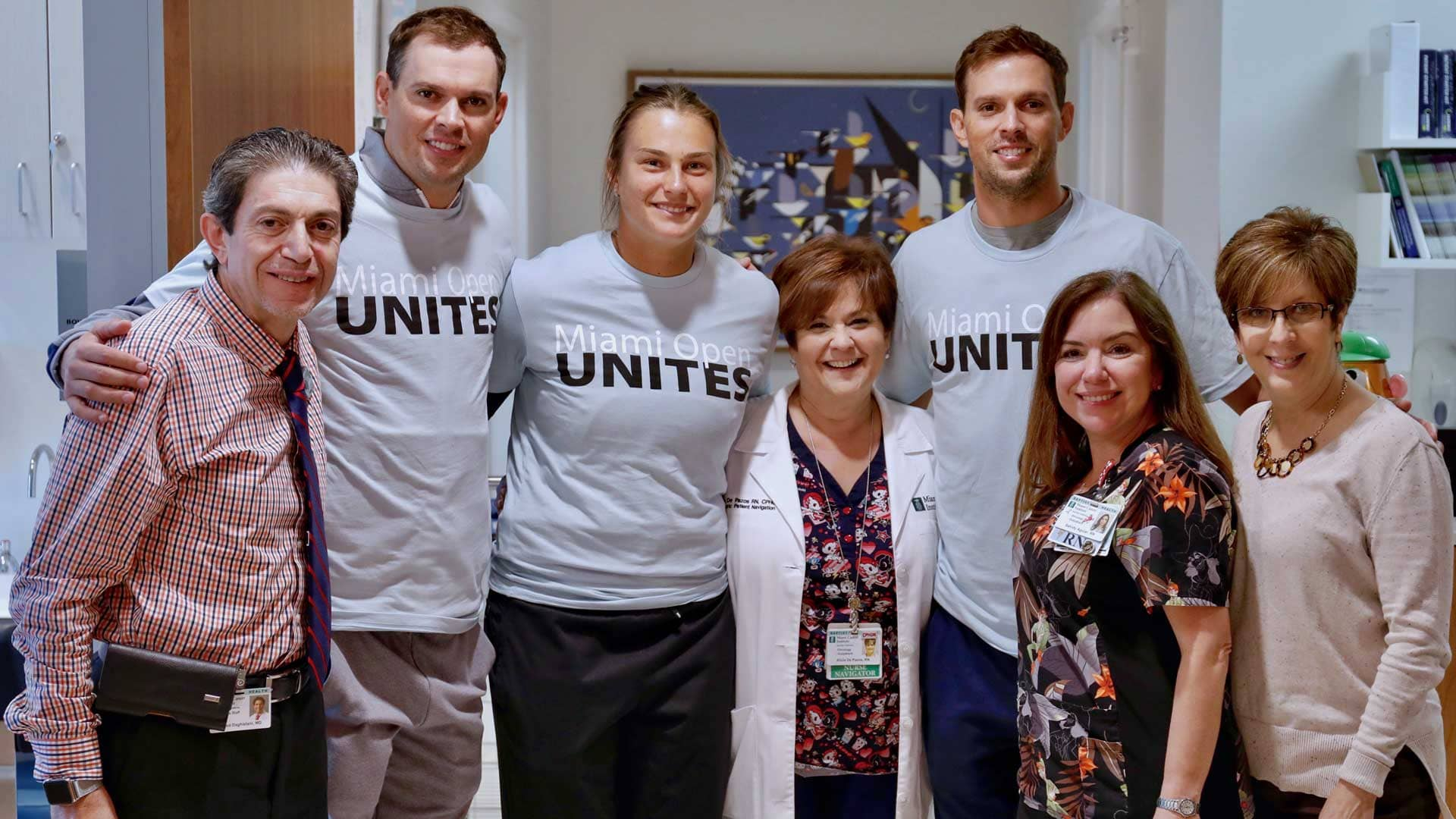The Bryan Brothers and Aryna Sabalenka lent their time during Miami Unites Day.