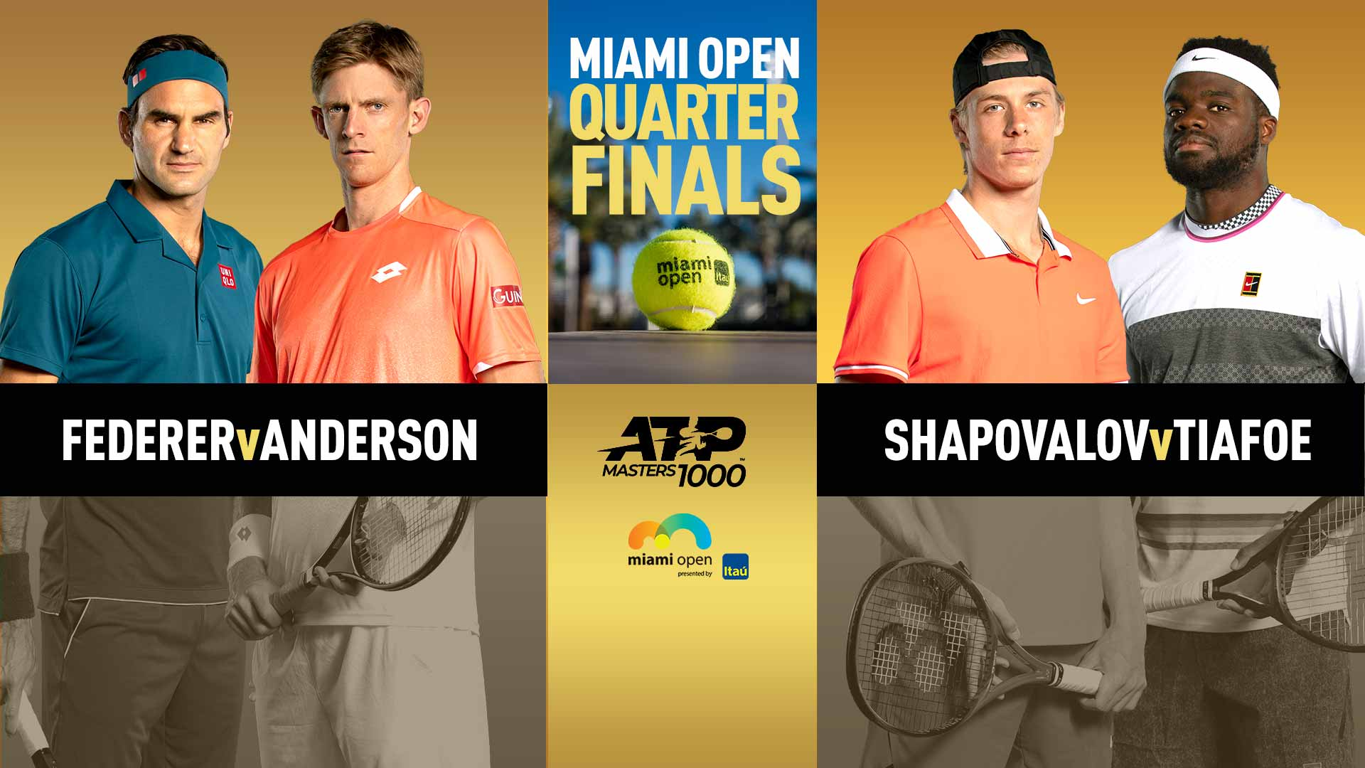 Miami Open Thursday quarter-final lineup