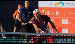 Lukasz Kubot, foreground, and Marcelo Melo advance on Wednesday at the Miami Open presented by Itau.