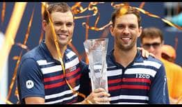 The Bryan brothers successfully defend their doubles title at the Miami Open presented by Itau.