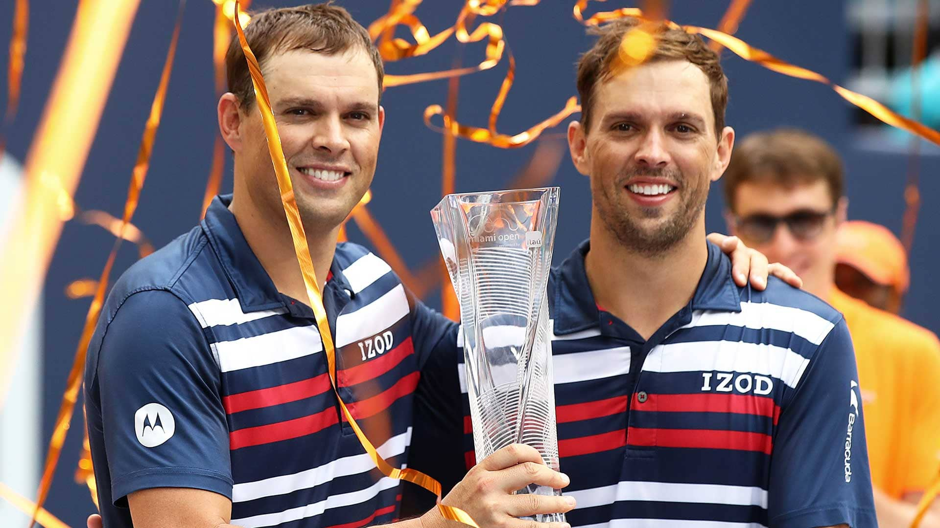 The Bryan Brothers win the doubles title at the <a href='https://www.atptour.com/en/tournaments/miami/403/overview'>Miami Open presented by Itau</a>.