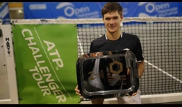 Kamil Majchrzak lifts his first ATP Challenger Tour trophy, prevailing in Saint-Brieuc, France.