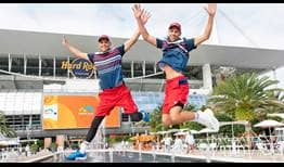 2019: Bob Bryan and Mike Bryan celebrate their sixth triumph in Miami, their 39th ATP Masters 1000 title.