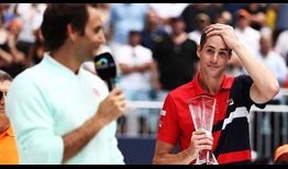 One year after lifting his first ATP Masters 1000 trophy in Miami, John Isner finishes runner-up to Roger Federer.