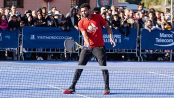 Jo-Wilfried Tsonga is a wild-card entry at the Grand Prix Hassan II in Marrakech