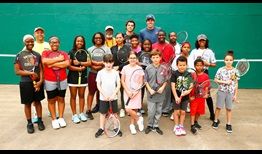 Taylor Fritz and Reilly Opelka, two of five Americans seeded in Houston, visit local children in Highland Park.