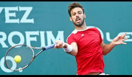 Marcel Granollers, the 2008 Houston champion, battles past fifth seed Taylor Fritz in three sets on Monday.