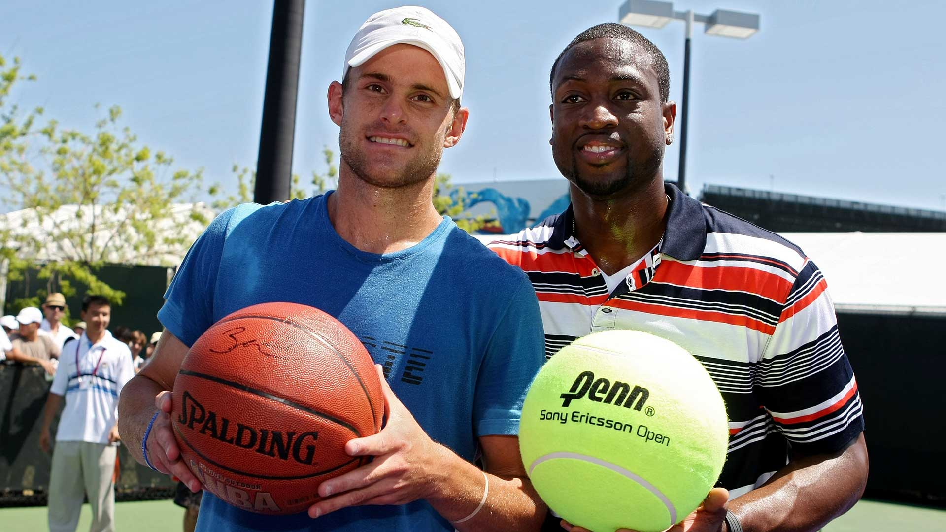 Andy Roddick and Dwyane Wade at the 2010 Miami Open