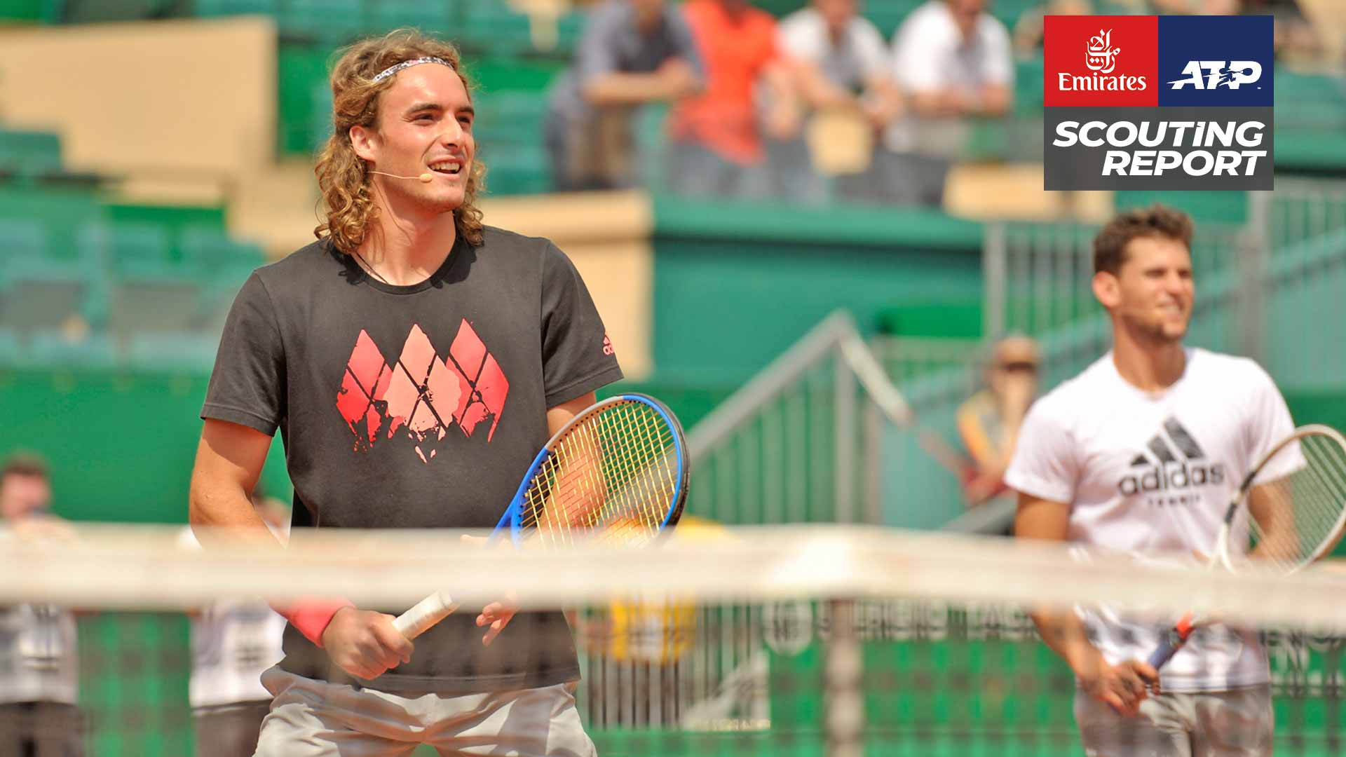 Stefanos Tsitsipas and Dominic Thiem help raise money for charity in Monte-Carlo