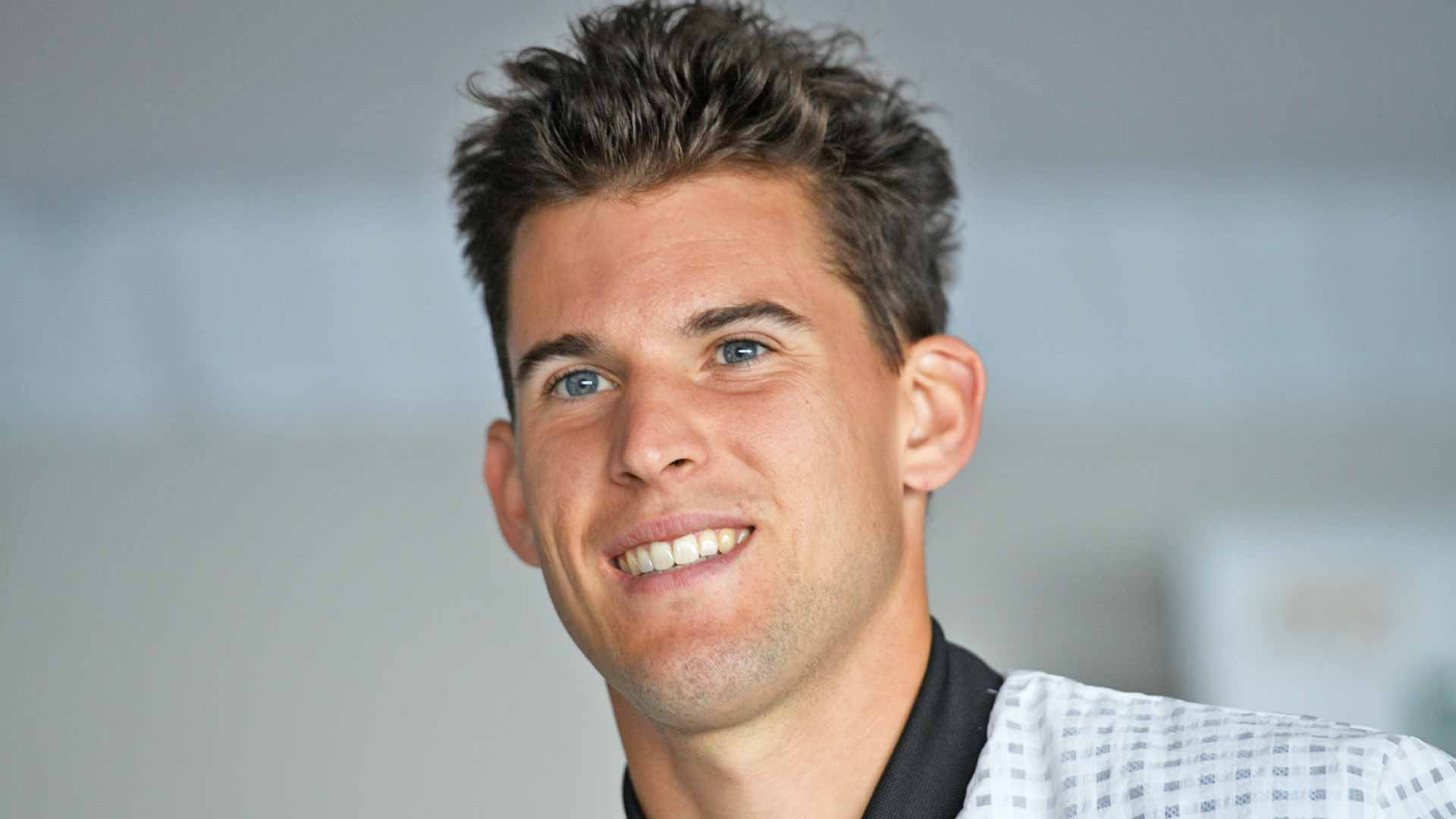 Dominic Thiem speaks to the press in Monte-Carlo