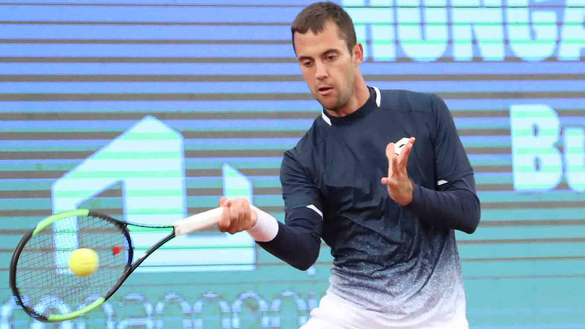 Laslo Djere wins on Tuesday in Budapest