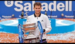 Dominic Thiem wins his 13th ATP Tour title in Barcelona.