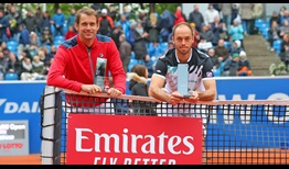 Frederik Nielsen and Tim Puetz win their first ATP Tour doubles title as a team on Sunday in Munich.