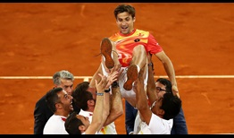 David Ferrer is celebrated for his 19-year ATP Tour career at the Mutua Madrid Open.