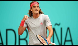 Eighth seed Stefanos Tsitsipas extends his winning streak to six matches with victory over Fernando Verdasco in Madrid on Thursday.