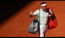 Three-time former champion Roger Federer was unable to convert two match points against Dominic Thiem in Madrid on Friday.