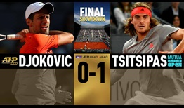 Novak Djokovic and Stefanos Tsitsipas meet on clay for the first time in the Mutua Madrid Open final.