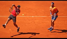 Jean-Julien Rojer and Horia Tecau convert five of 10 break points to beat Diego Schwartzman and Dominic Thiem at the Mutua Madrid Open on Sunday.