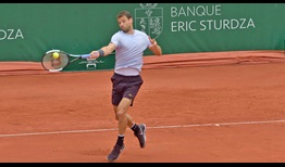 Grigor Dimitrov is competing in qualifying for the first time since 2012 Paris.