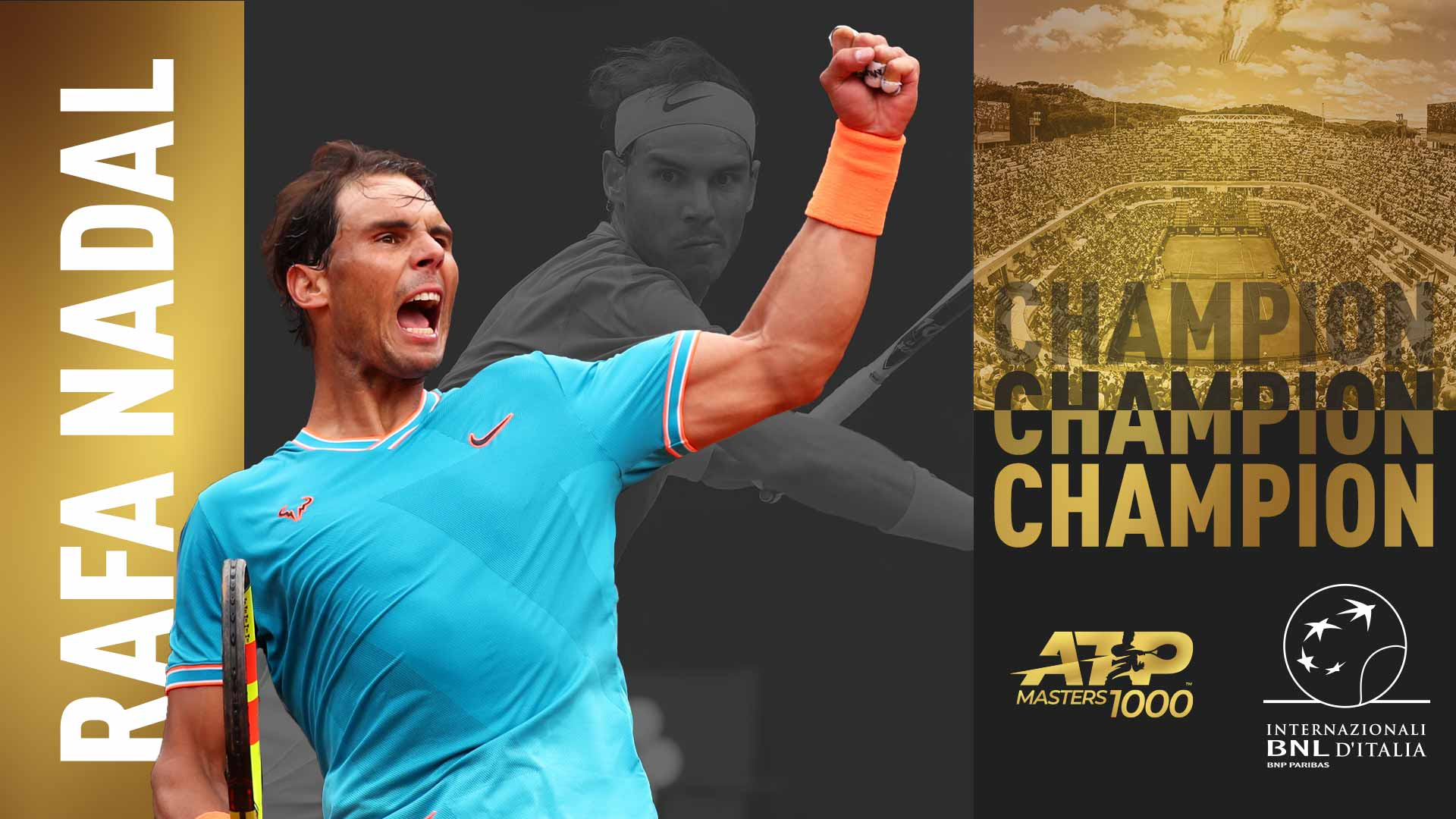 Rafael Nadal wins his ninth Rome title on Sunday