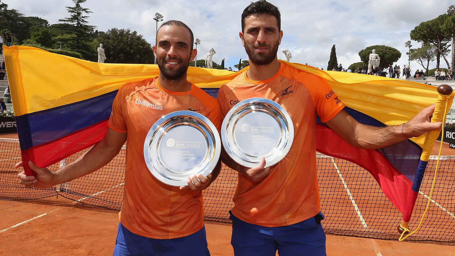 Cabal and Farah win their second Rome doubles title on Sunday