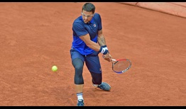 Janko Tipsarevic breaks serve four times to defeat Peter Gojowczyk on Monday in Geneva.
