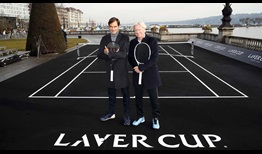 Roger Federer and Bjorn Borg launch the 2019 Laver Cup with a gathering at the Palais Eynard in Geneva.