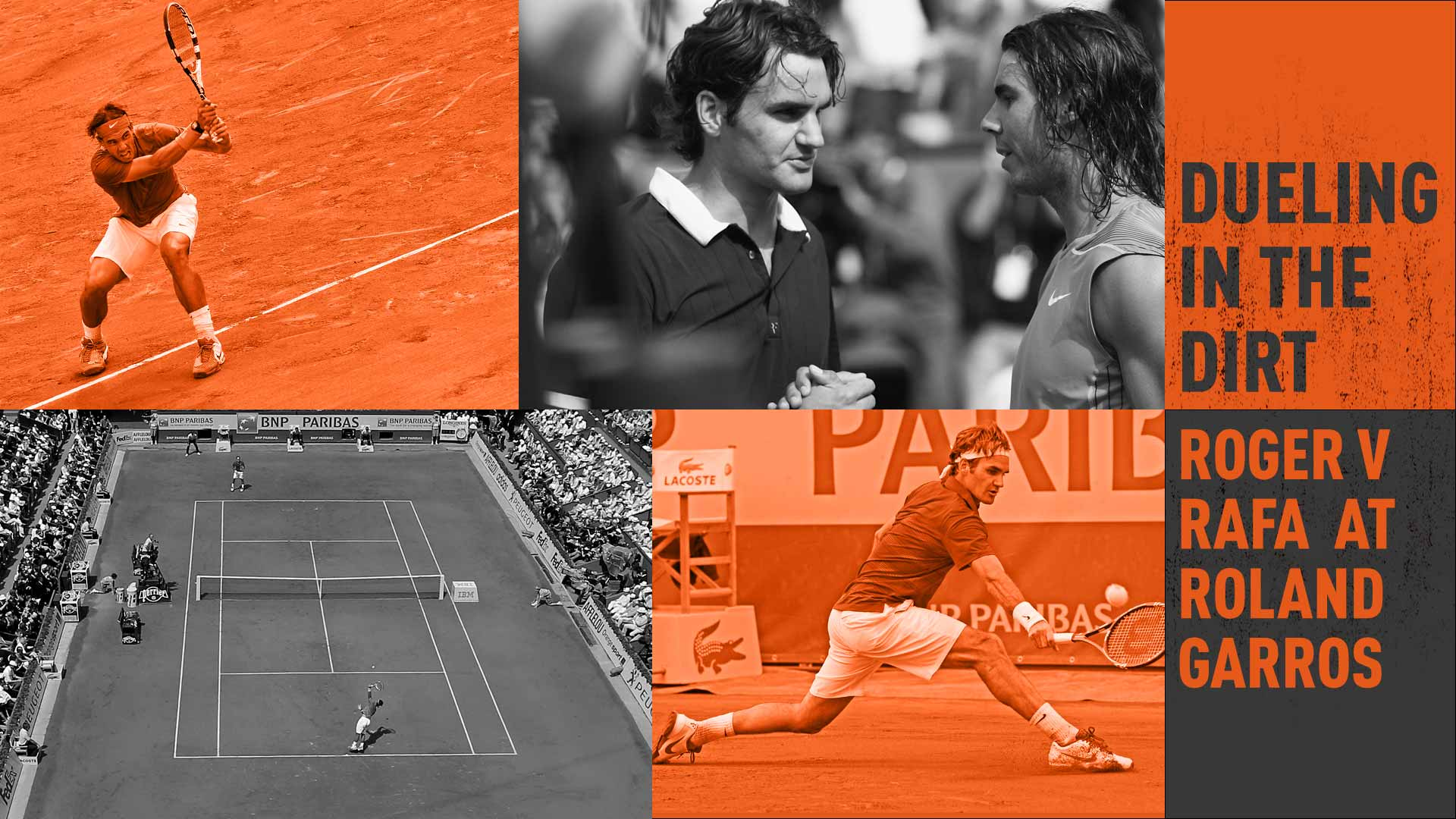 Rafael Nadal leads Roger Federer 6-0 in ATP Head2Head encounters at Roland Garros.