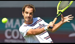 Eighth seed Richard Gasquet converts four of his 12 break points to beat Aljaz Bedene on Tuesday in 's-Hertogenbosch.